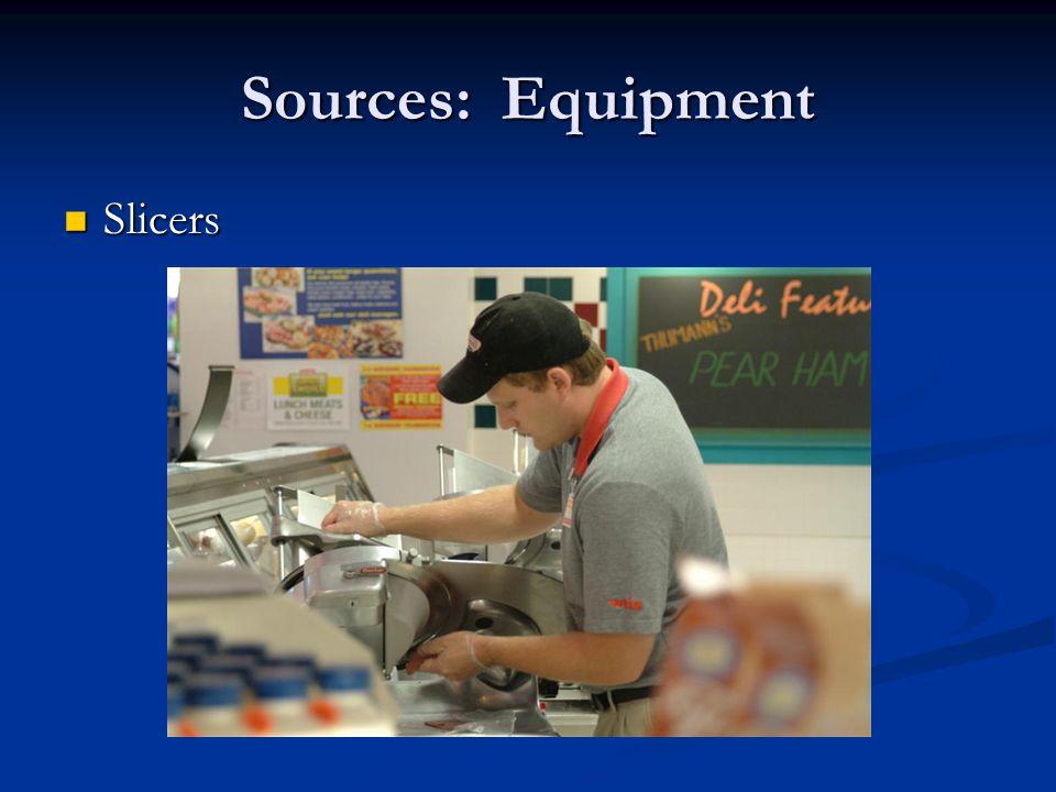 Sources: Equipment Slicers Slicers