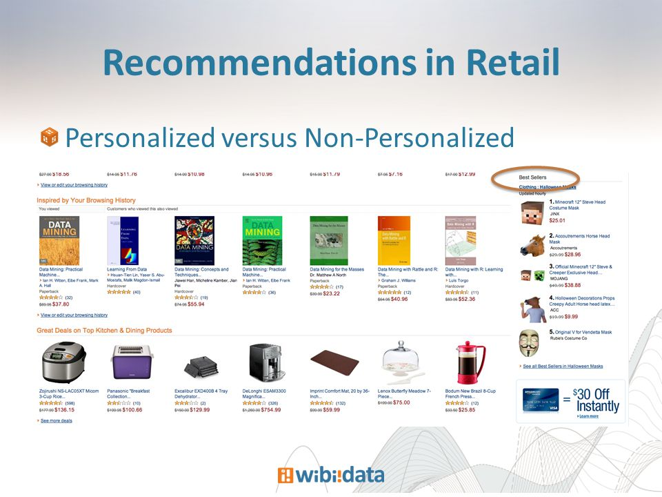 Recommendations in Retail Personalized versus Non-Personalized