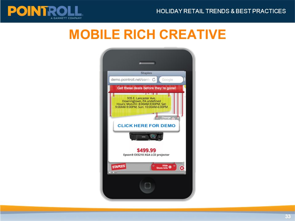3333 MOBILE RICH CREATIVE HOLIDAY RETAIL TRENDS & BEST PRACTICES