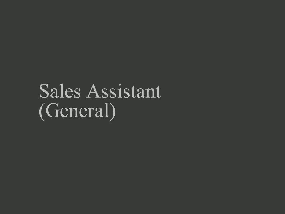 Sales Assistant (General)