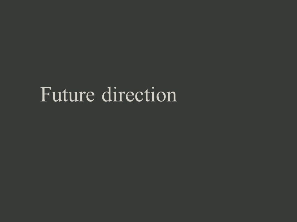 Future direction