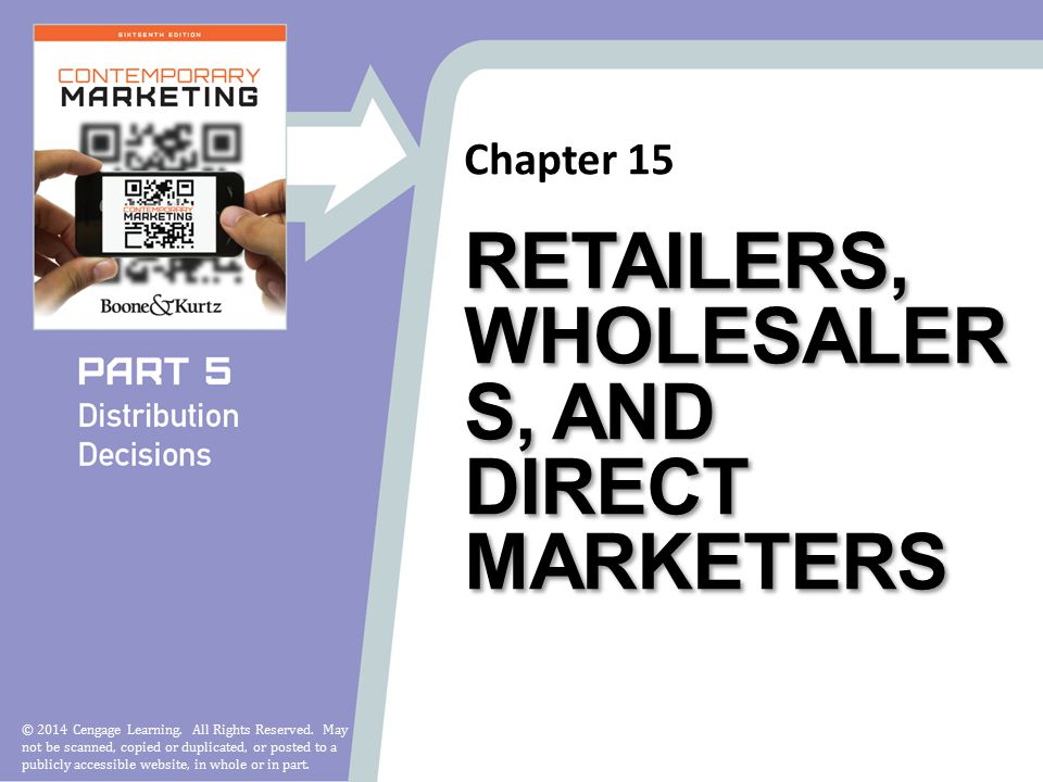 Chapter 15 © 2014 Cengage Learning. All Rights Reserved.