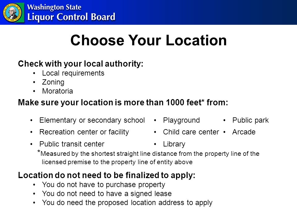 Operating Plan You will be asked to describe how you plan to comply with requirements listed in WAC For example: