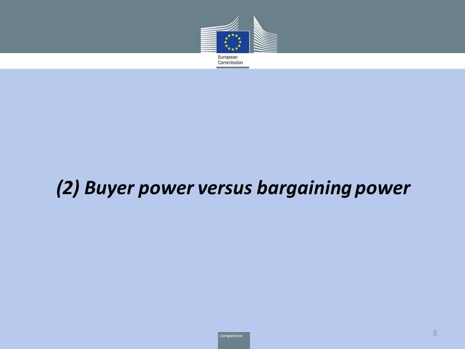 8 (2) Buyer power versus bargaining power