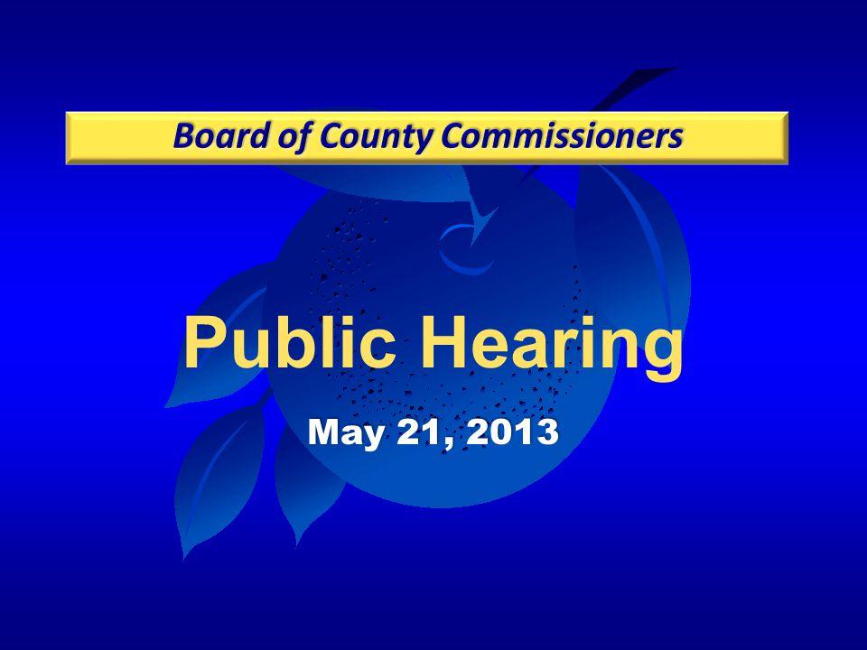 Public Hearing May 21, 2013