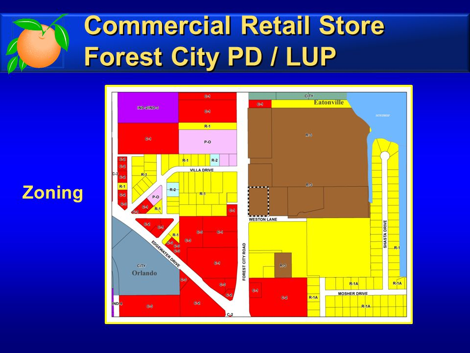 Zoning Commercial Retail Store Forest City PD / LUP