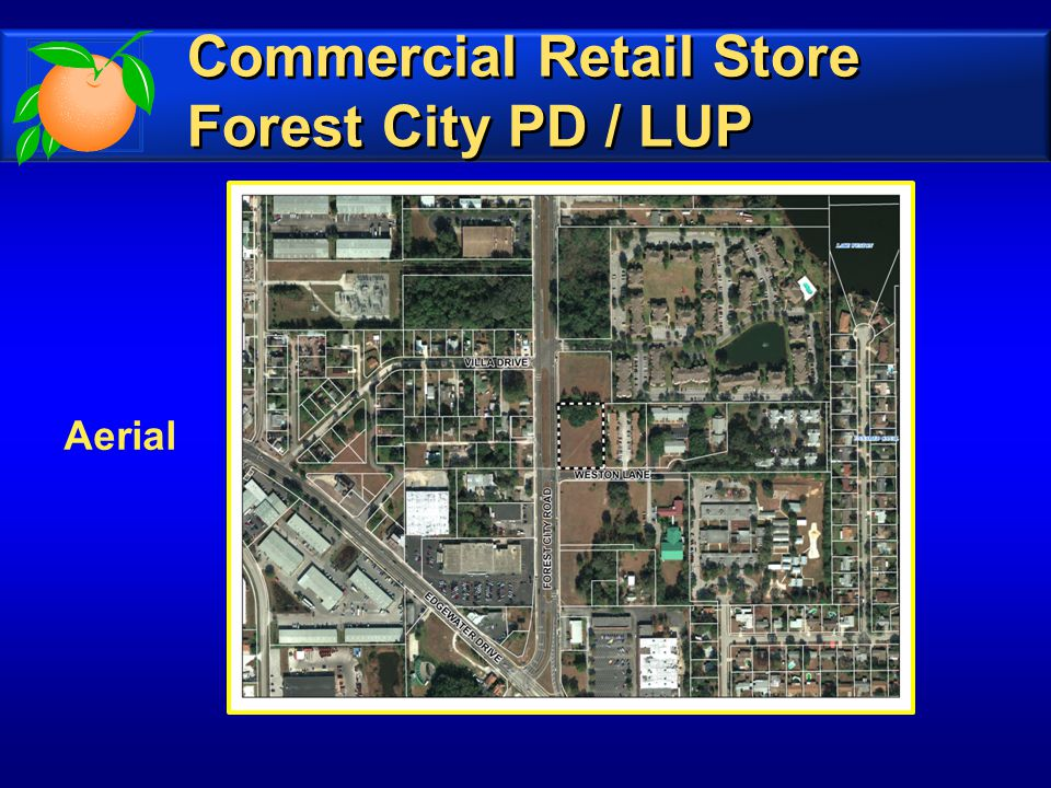 Aerial Commercial Retail Store Forest City PD / LUP