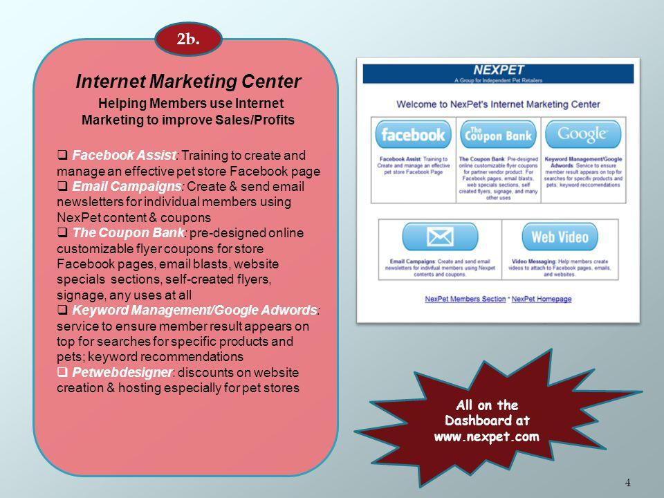 Internet Marketing Center Helping Members use Internet Marketing to improve Sales/Profits 2b.