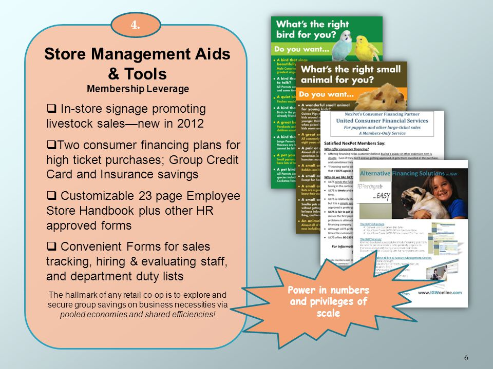 Store Management Aids & Tools Membership Leverage 4.