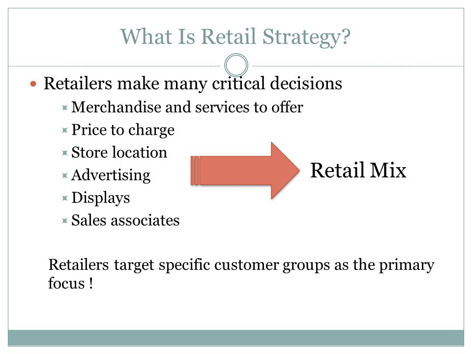 What Is Retail Strategy.