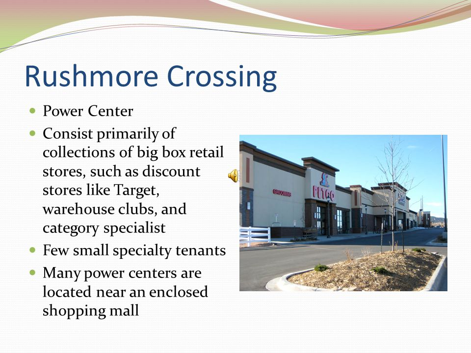 Rushmore Mall Shopping malls are classified as either regional malls or super regional malls.