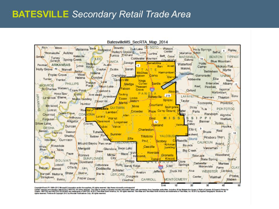WE KNOW RETAIL BATESVILLE Secondary Retail Trade Area