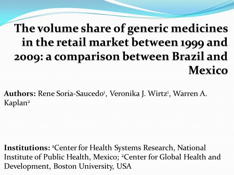 Authors: Rene Soria-Saucedo 1, Veronika J. Wirtz 1, Warren A.