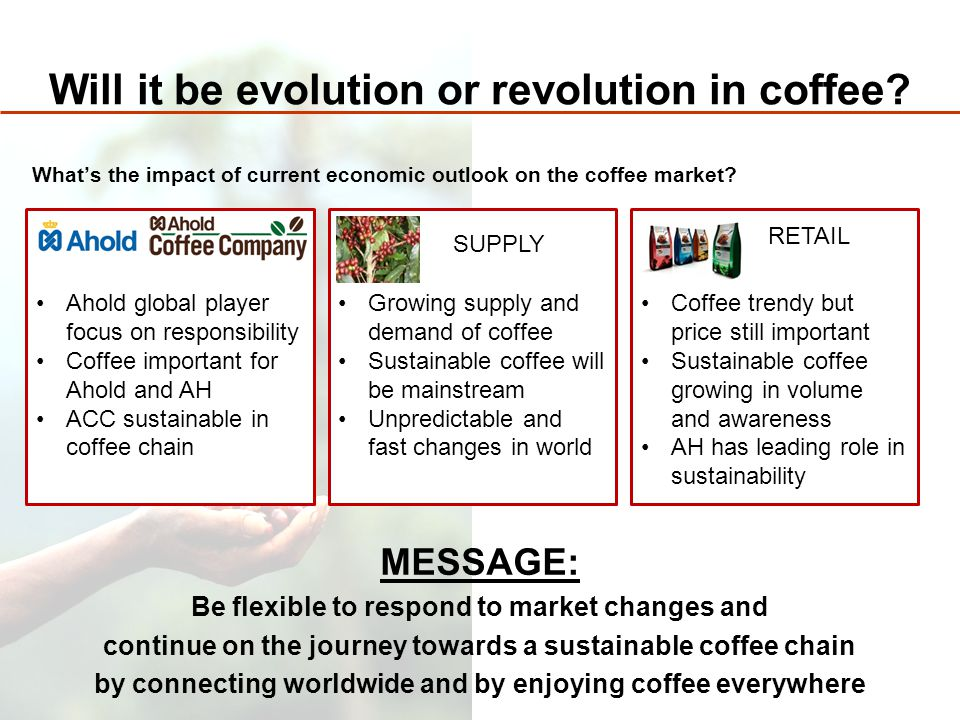 Will it be evolution or revolution in coffee.