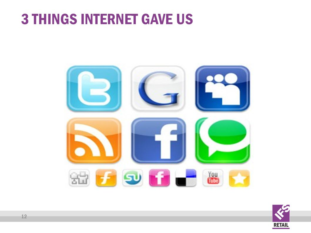 3 THINGS INTERNET GAVE US 12