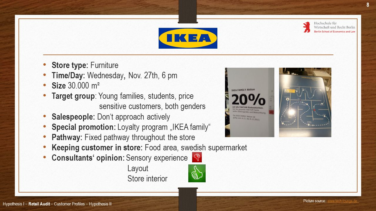 Store type: Furniture Time/Day: Wednesday, Nov.