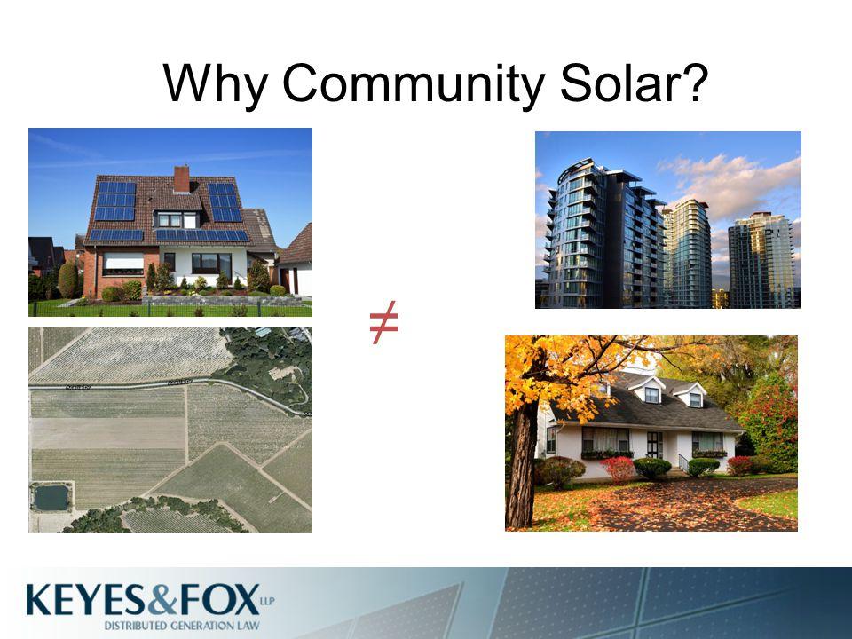 Why Community Solar ≠
