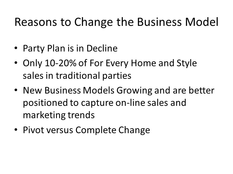 Party plan business model