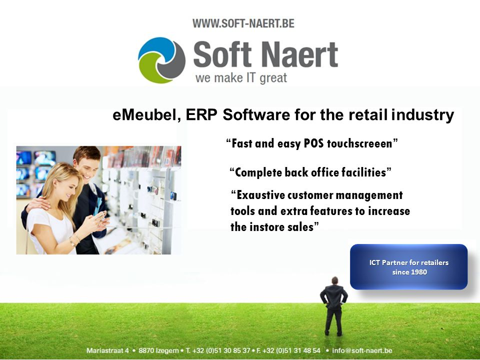 Connection with website / webshop Manage and export orders from the Webshop/webservice witha realtime connection Reach more buyer with your company on the web