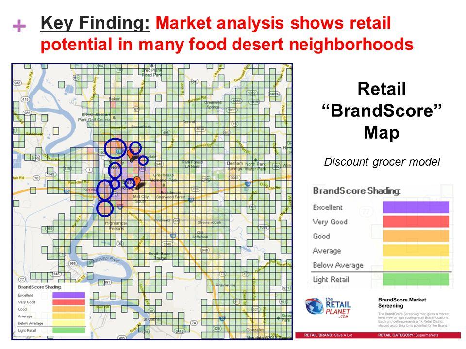 + Retail BrandScore Map Discount grocer model