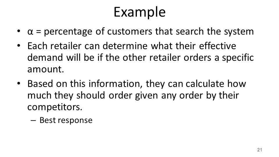 Best Response with α=90% FIGURE 7-11: Retailers' best response 22