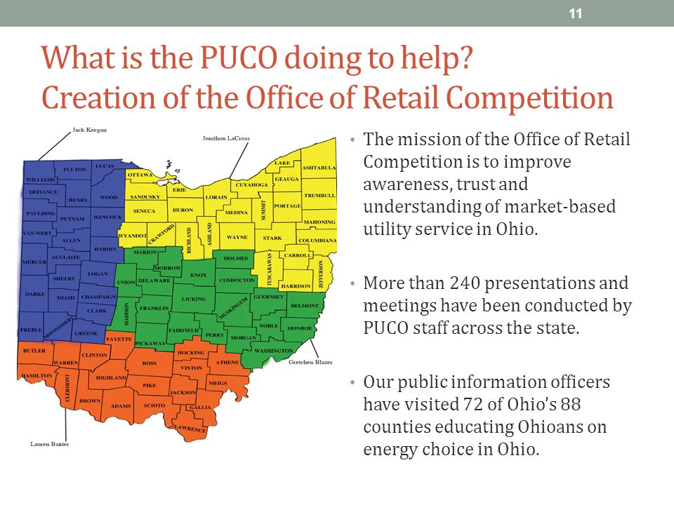 What is the PUCO doing to help.