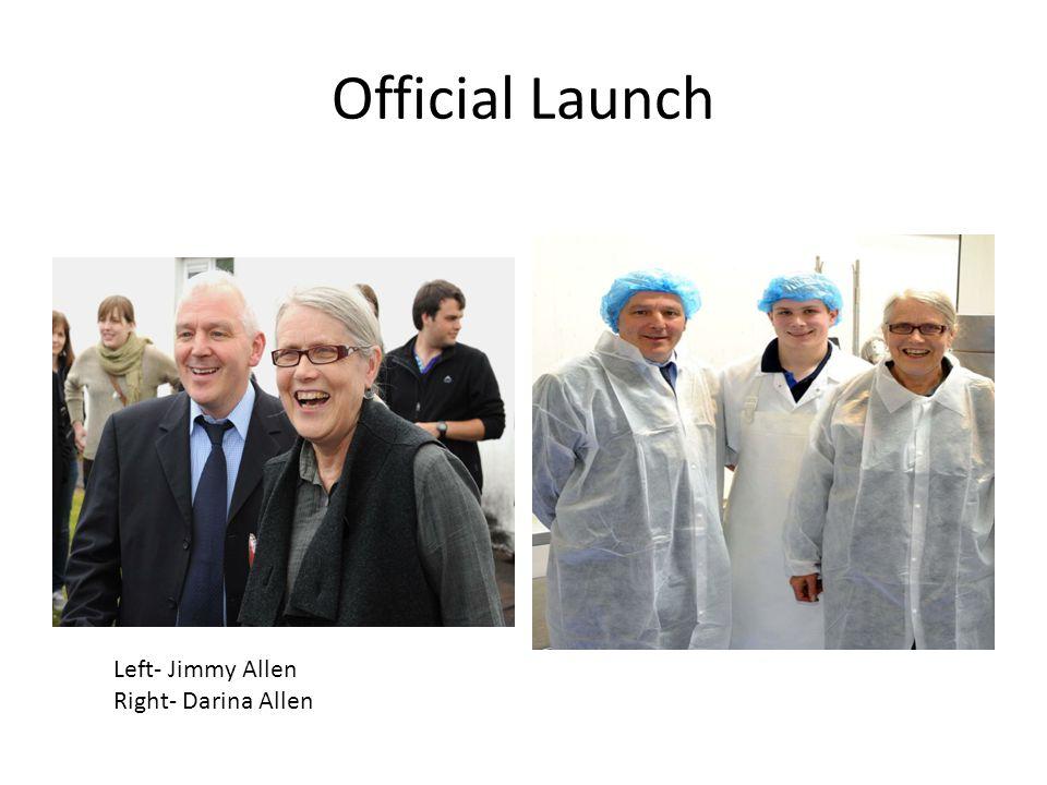 Official Launch Left- Jimmy Allen Right- Darina Allen