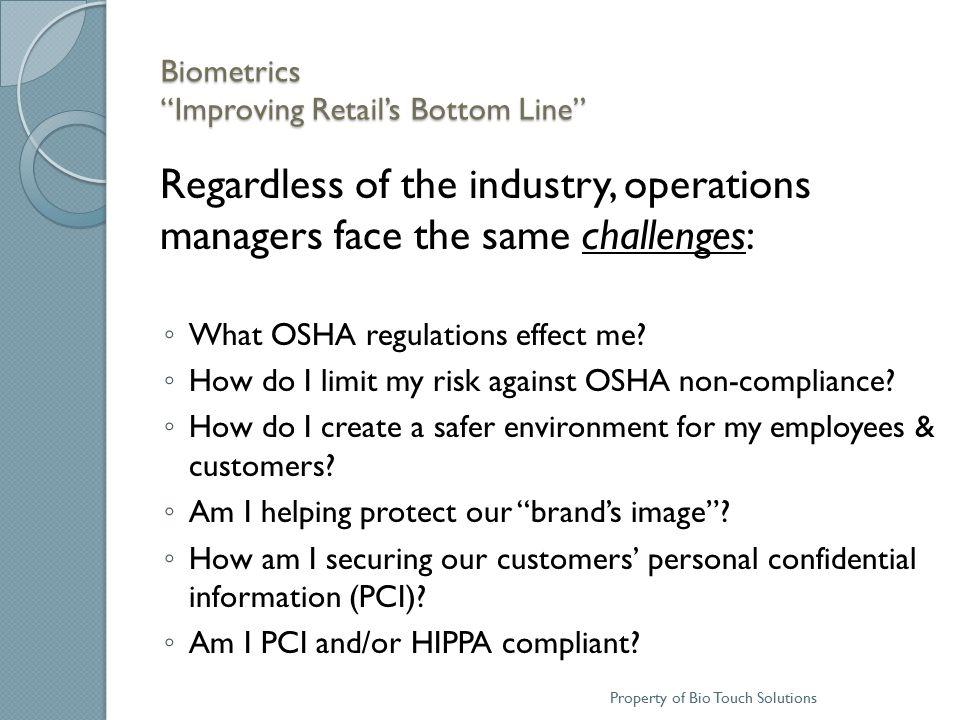 Biometrics Improving Retail's Bottom Line 2010 Facts & Figures  U.S.