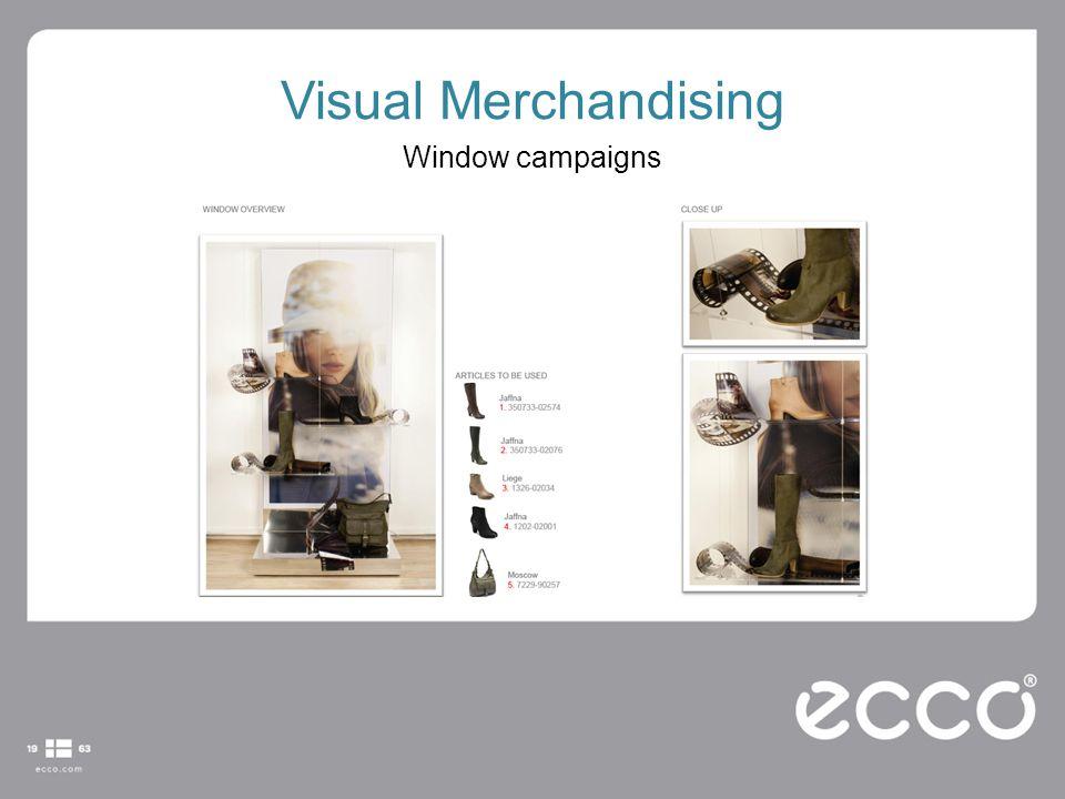 Visual Merchandising Window campaigns