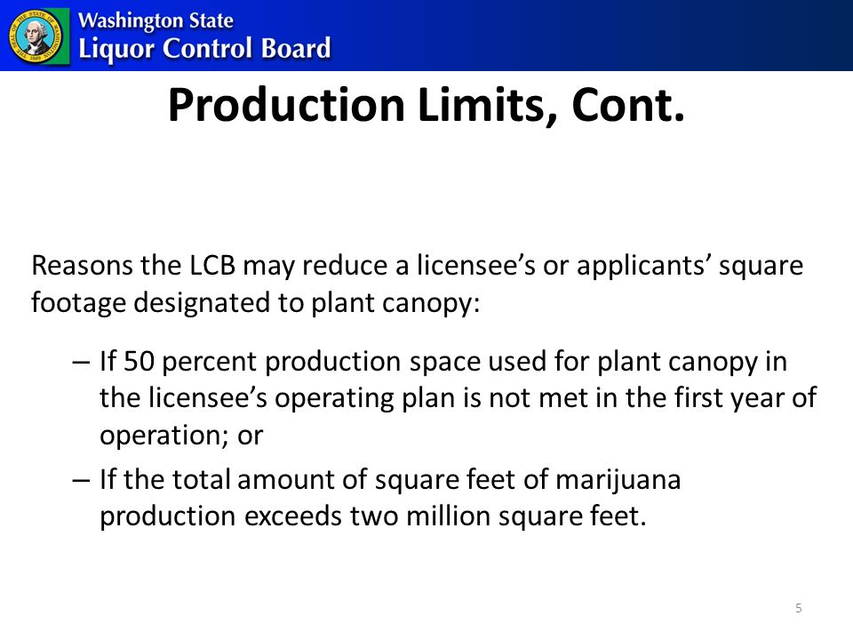 Production Limits, Cont.