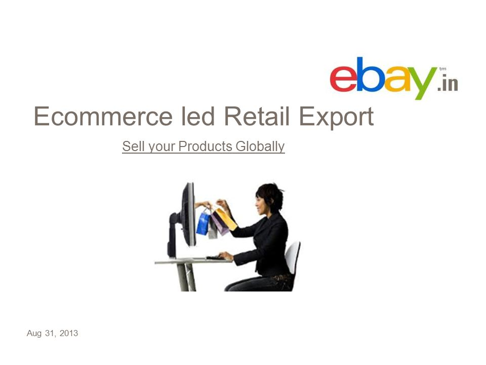 Ecommerce led Retail Export Sell your Products Globally Aug 31, 2013
