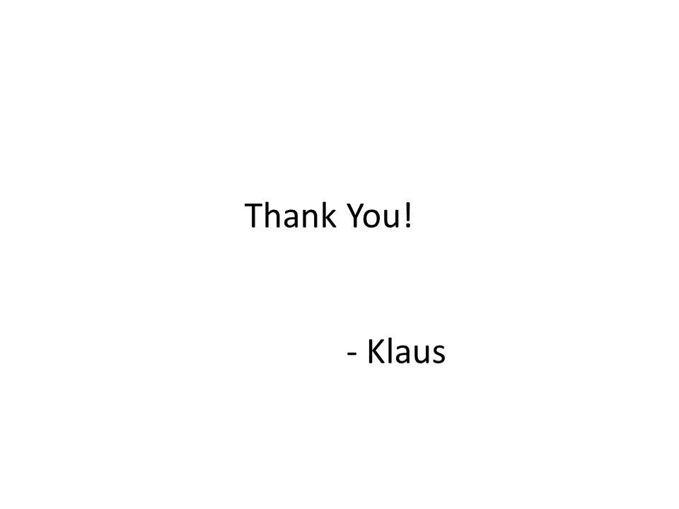 Thank You! - Klaus