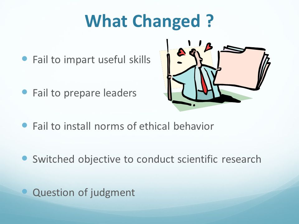 What Affected the Change Professors Tenure Adjunct Scientific Research Publications What Gets Taught