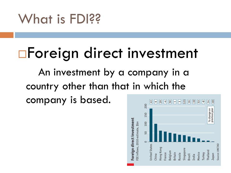 What is FDI .