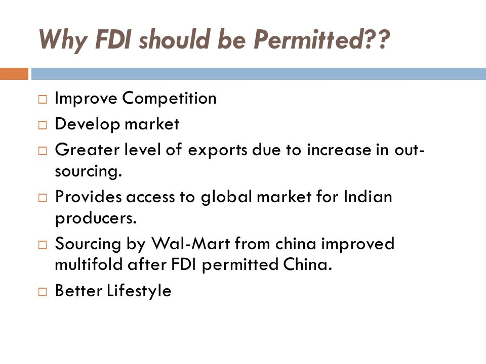 Why FDI should be Permitted .