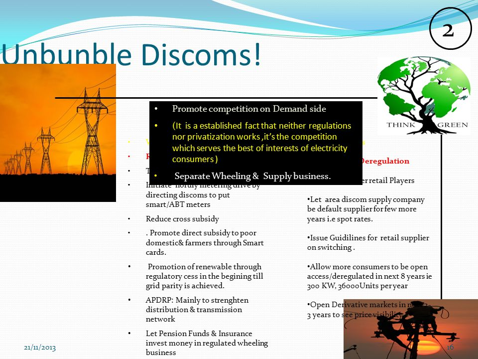 Unbunble Discoms.