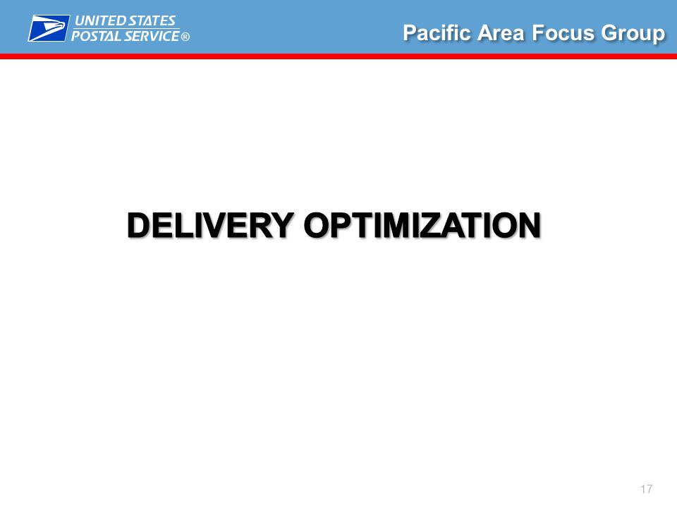 ® 17 Pacific Area Focus Group