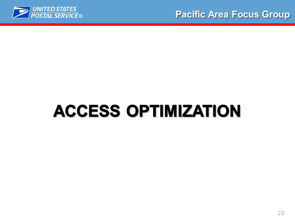 ® 23 Pacific Area Focus Group