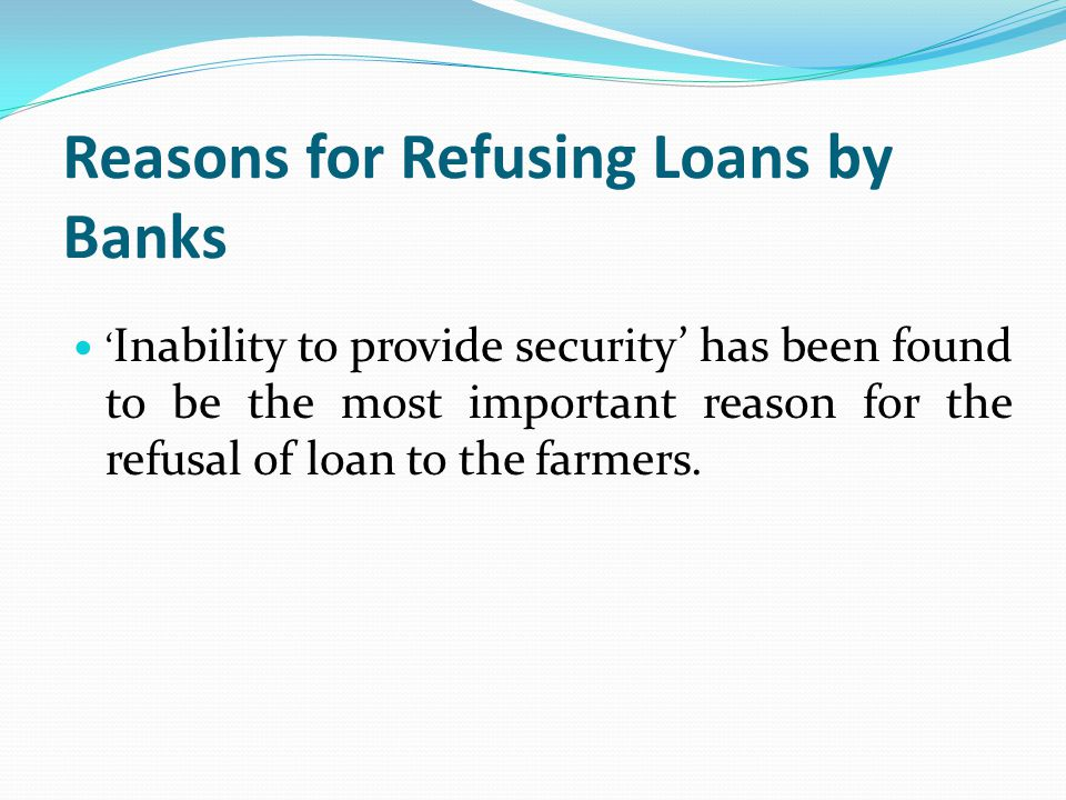 FINDINGS Problems being Faced by Borrowers in Getting Loans from Commercial Banks ' Difficulty in collecting record' has been found to be the most common problem being faced by the respondents followed by reason of 'More paper work'.
