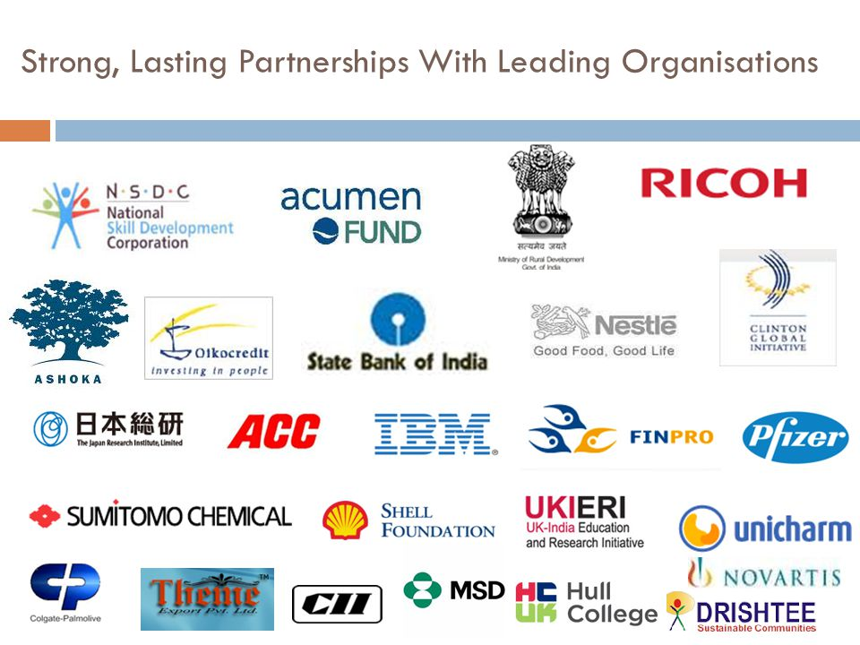 Strong, Lasting Partnerships With Leading Organisations