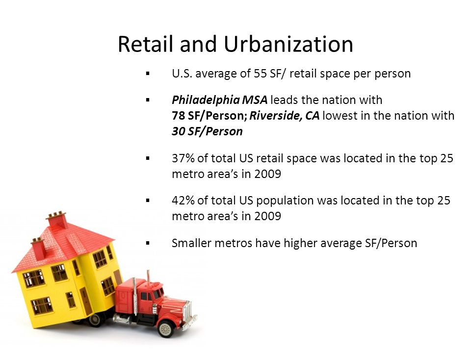 Retail and Urbanization  U.S.