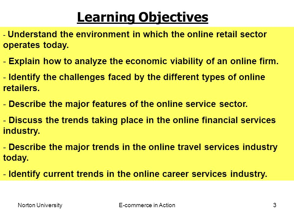 Norton UniversityE-commerce in Action4 RETAIL INDUSTRY The retail industry is composed of many different types of firms.