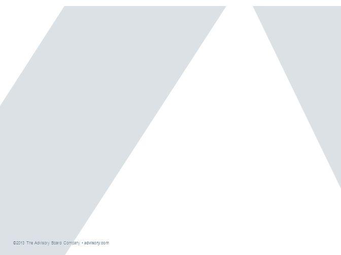 ©2013 The Advisory Board Company advisory.com