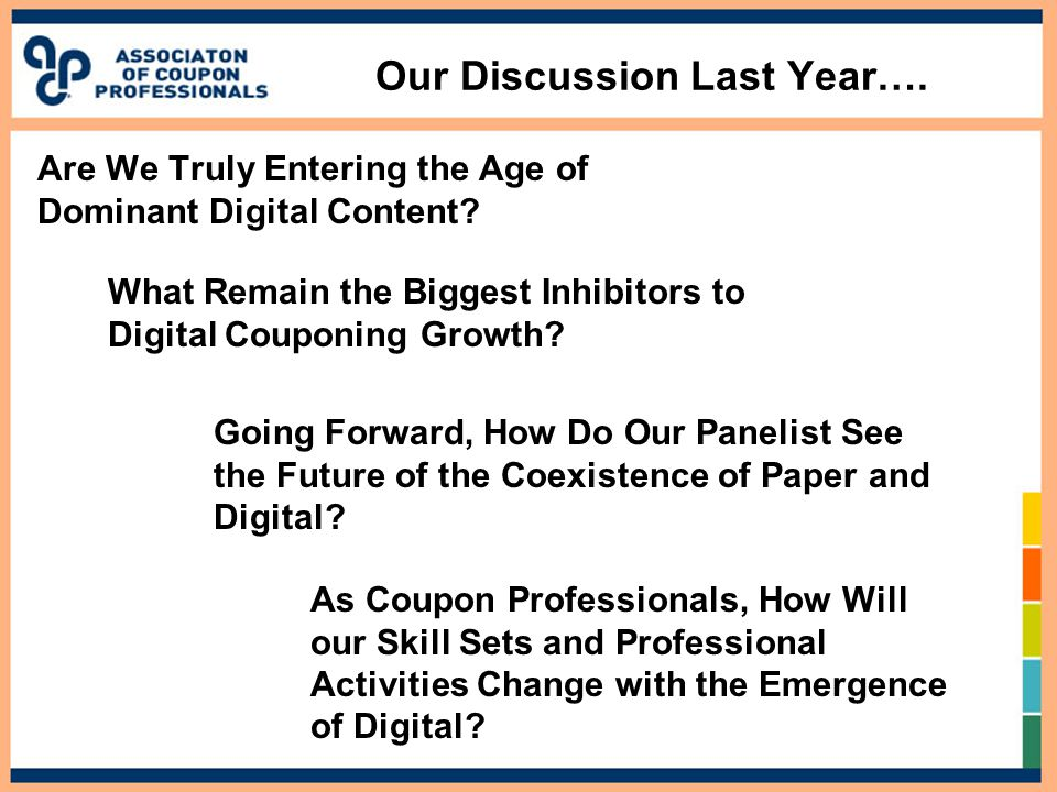 Our Discussion Last Year…. Are We Truly Entering the Age of Dominant Digital Content.