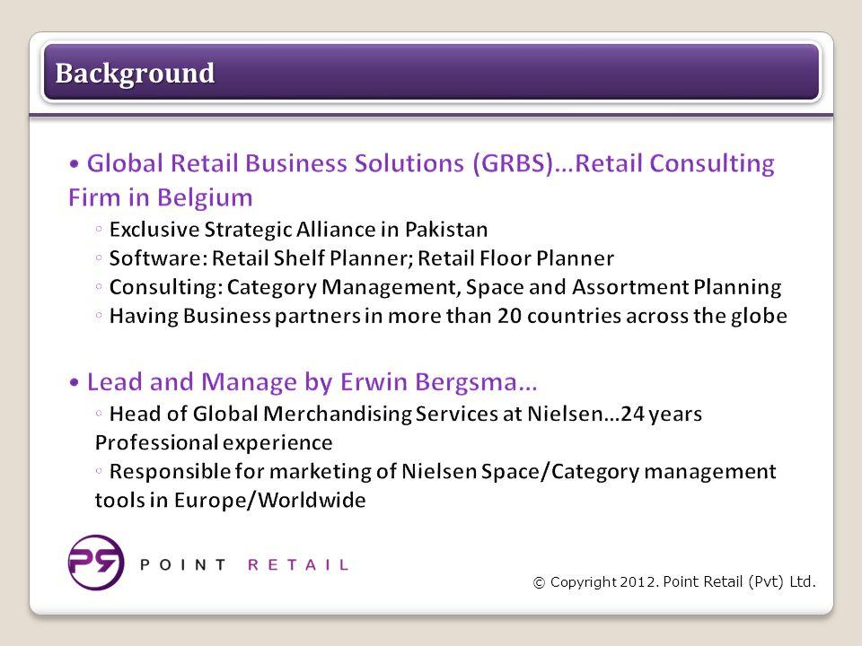 © Copyright 2012. Point Retail (Pvt) Ltd. BackgroundBackground