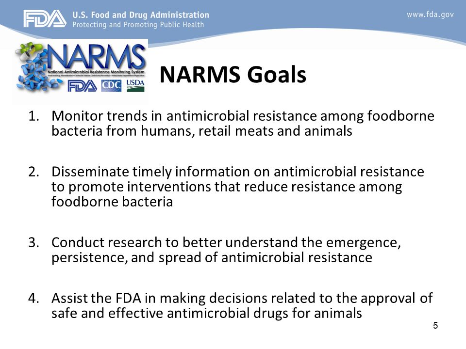 NARMS data collection design What is sampled.