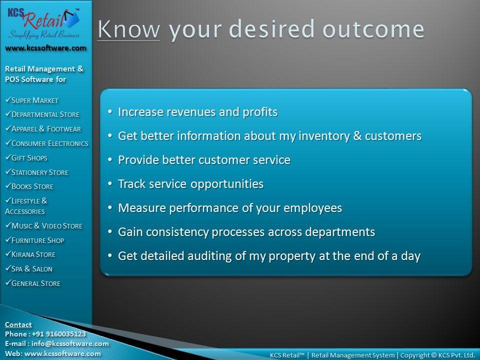 KCS Retail™   Retail Management System   Copyright © KCS Pvt.