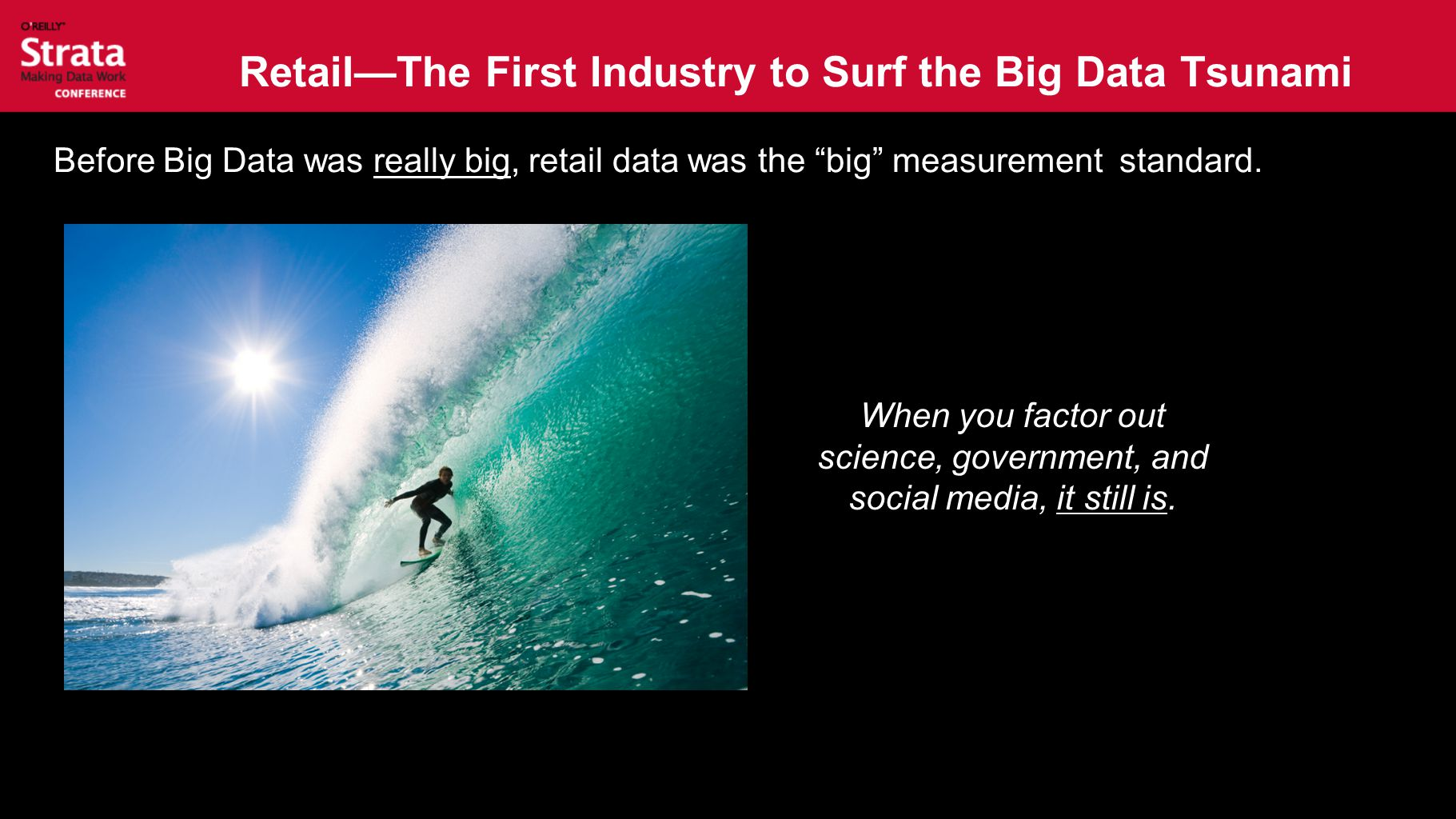 Retail—The First Industry to Surf the Big Data Tsunami Before Big Data was really big, retail data was the big measurement standard.
