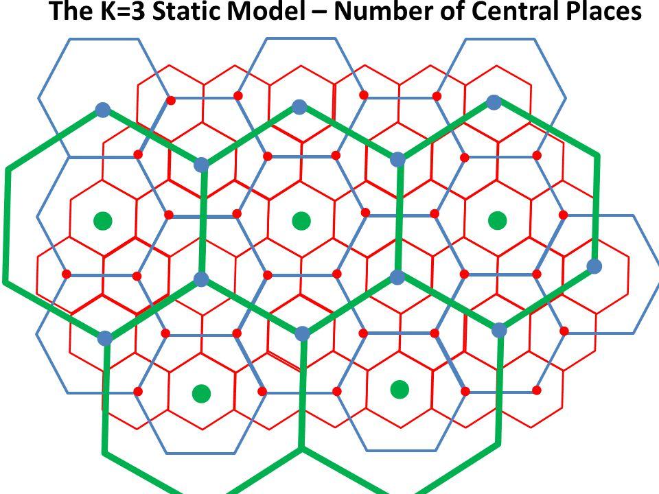 c v v v v v v v The K=3 Static Model – Number of Central Places ● ● ● ● ● ● ● ● ● ● ● ● ● ● ● ● ● ● ● ● ● ● ● ● ● ● ● ● ● ● ● ● ● ● ●● ● ●●●● ● ●●● ●