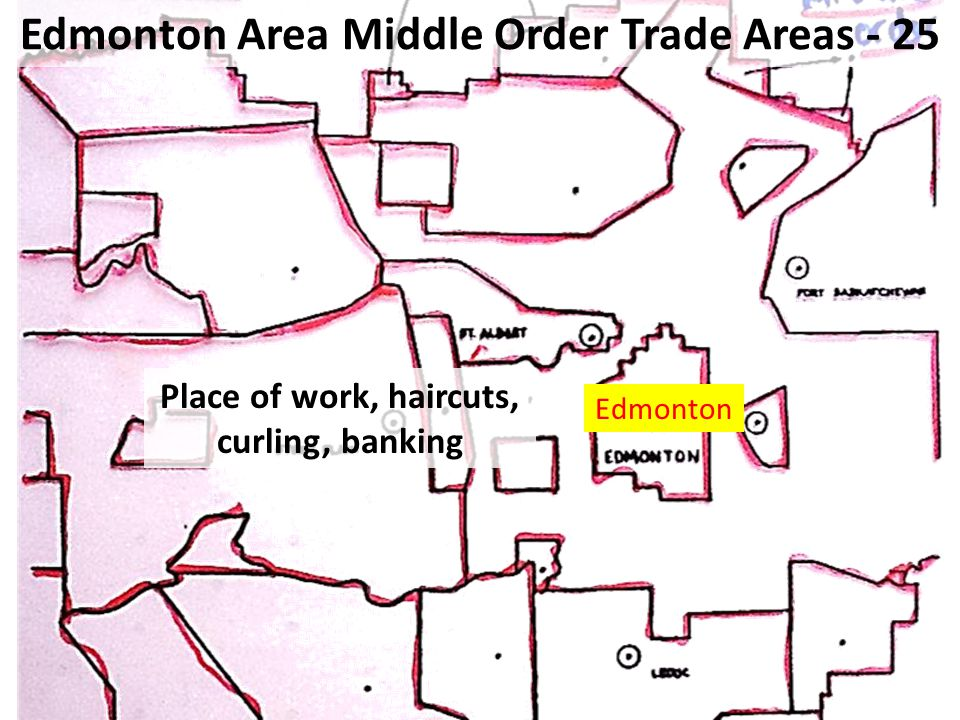 Edmonton Area Middle Order Trade Areas - 25 Place of work, haircuts, curling, banking Edmonton